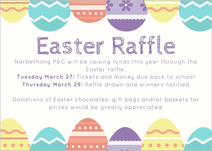 2018 P&C Easter Raffle